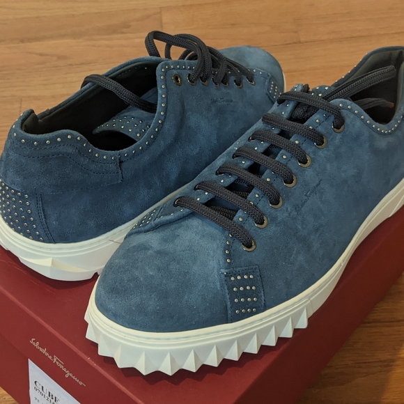 Studded Suede Lowtop Sneakers